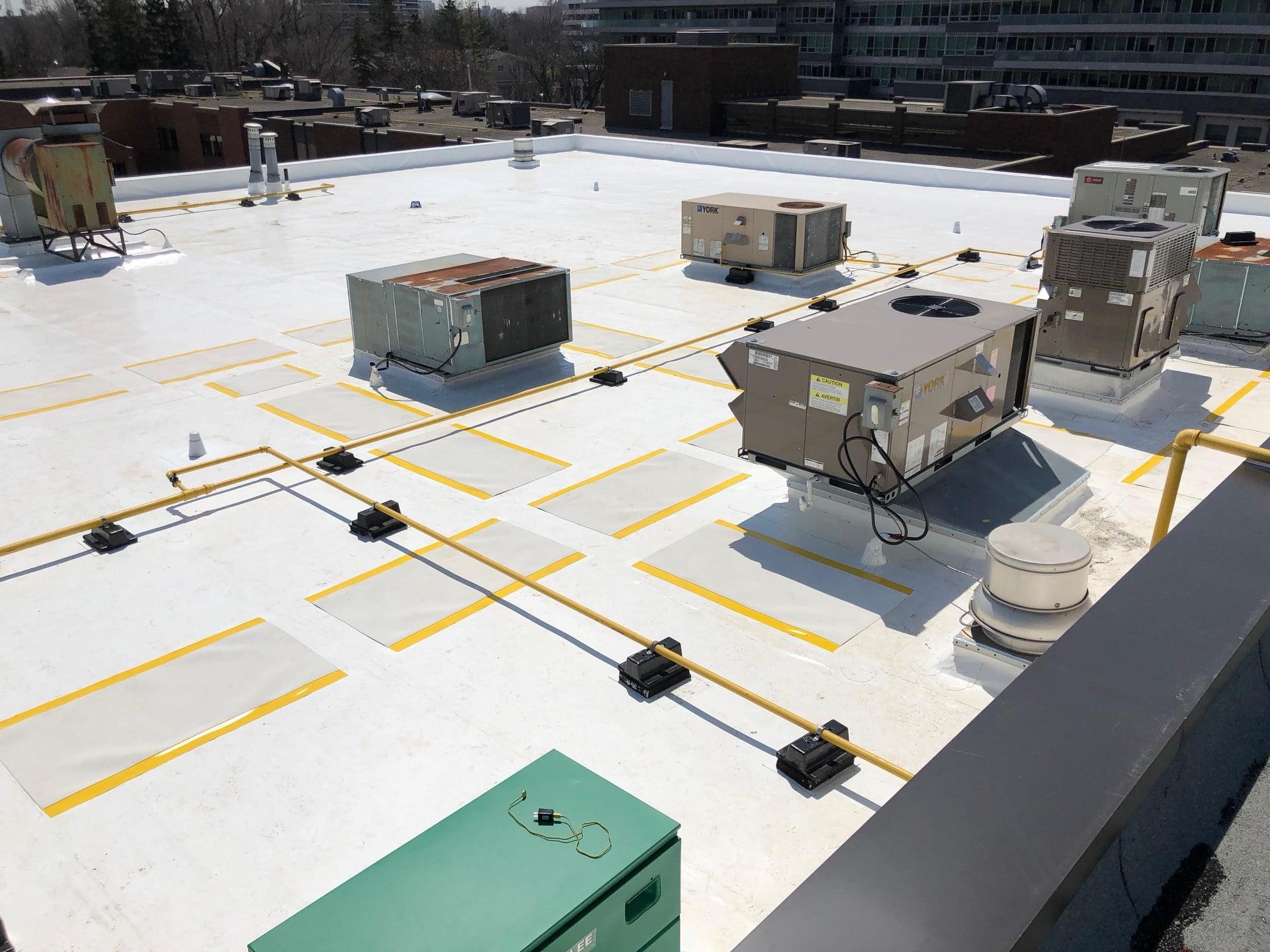 white pvc flat roof